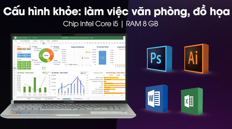 Laptop Asus VivoBook S15 S531FA chạy được ứng dụng nặng