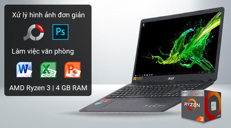 Laptop Acer Aspire 3 có cấu hình đáp ứng nhu cầu văn phòng
