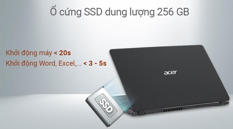 Laptop Acer Aspire 3 có tốc độ xử lí cực nhanh