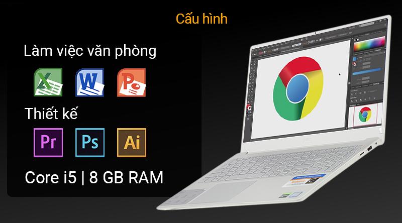 Laptop Dell Inspiron 7591 sử dụng chip Intel Core i5 thế hệ thứ 9