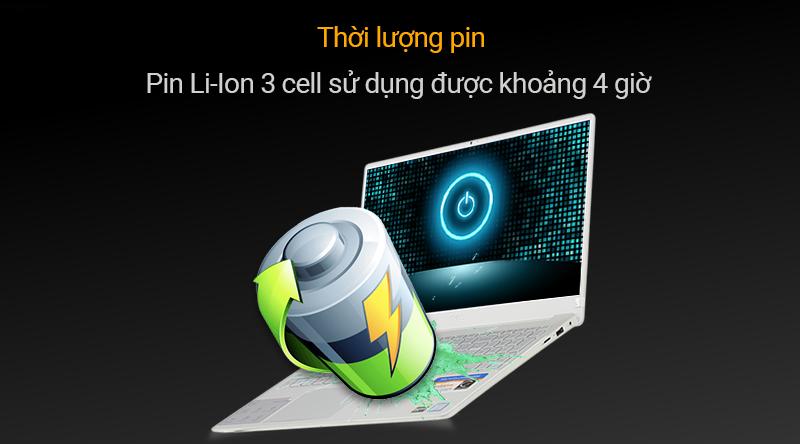 Pin Li-Ion 3 cell sử dụng được khoảng 4 giờ