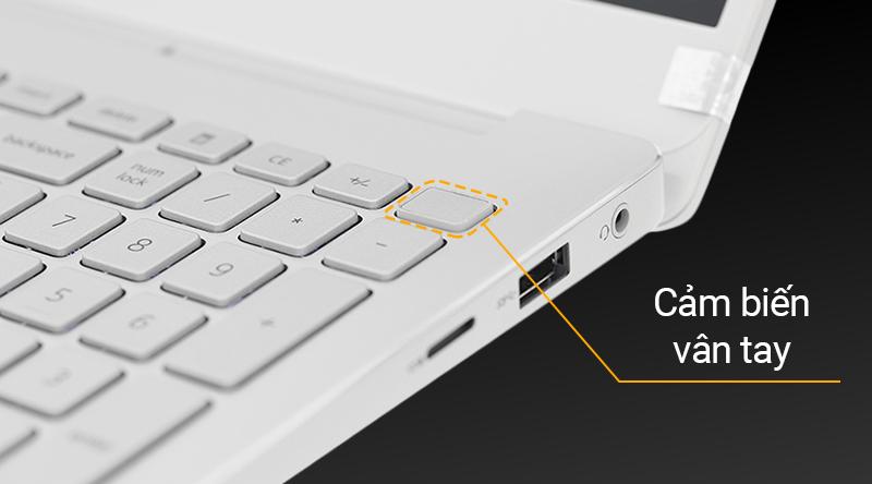 Laptop Dell Inspiron 7591 được tích hợp một cảm biến vân tay