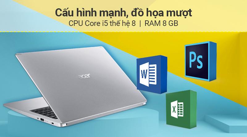 Laptop Acer Aspire A515 54 54EU cấu hình khỏe