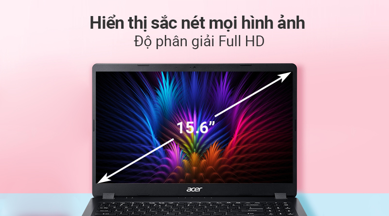 Laptop Acer Aspire A315 54K 36QU hiển thị rõ nét