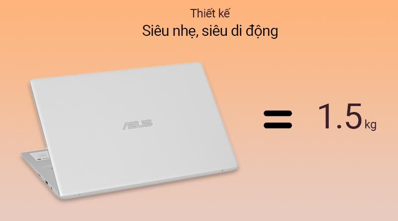 Laptop Asus VivoBook A412FA có trọng lượng được tối ưu hóa chỉ còn 1.5 kg