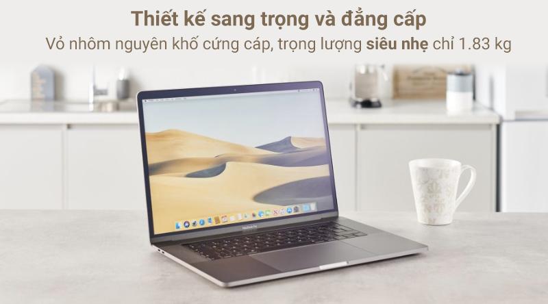 Laptop Macbook Pro Touch 2019 i9 với thiết kế sang trọng, thời thượng