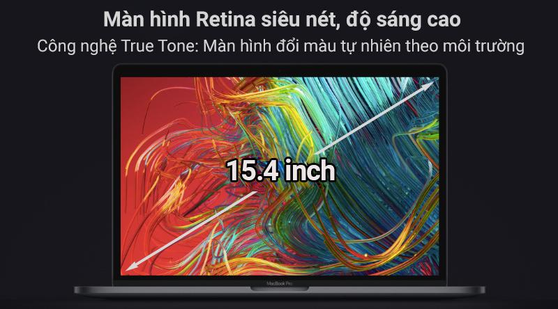 Laptop Macbook Pro Touch 2019 i9 với màn hình Retina sắc nét