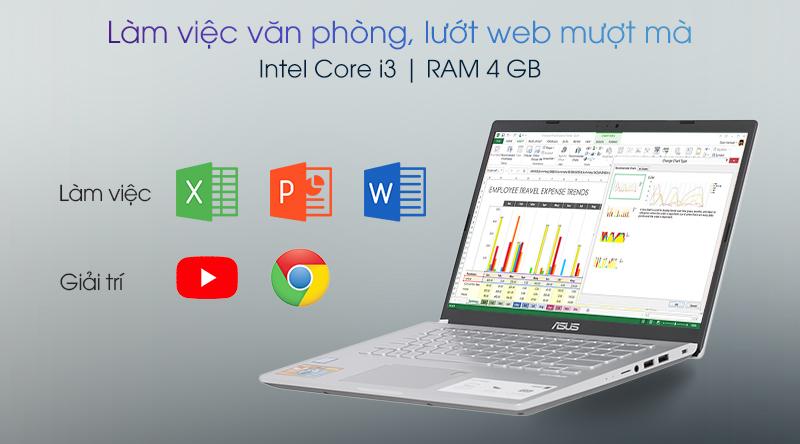 CPU Intel Core i3, RAM 4 GB