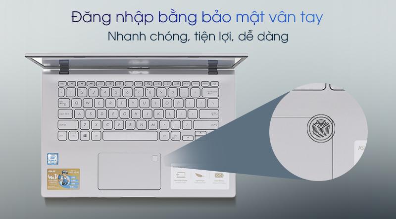 ASUS VivoBook được trang bị bảo mật vân tay