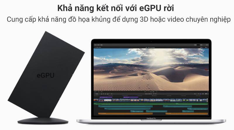 MacBook Pro 2019 còn có khả năng nâng cấp sức mạnh đồ họa với việc gắn thêm eGPU