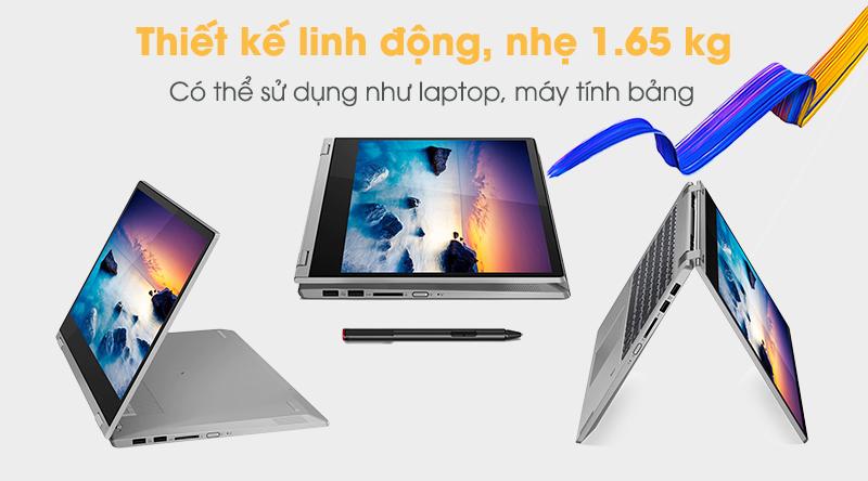 Lenovo IdeaPad C340 có trọng lượng 1.65 kg,