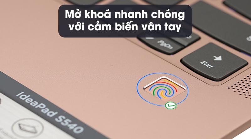 Vân tay thông minh Lenovo IdeaPad S540 14IML