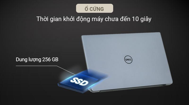 Sản phẩm được cài đặt ổ cứng SSD 256 GB giúp cho quá trình khởi động máy và mở ứng dụng chưa đến 20 giây.