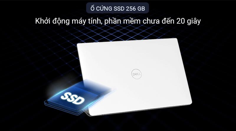 Laptop Dell XPS 13 có ổ cứng SSD 256 GB cực nhanh