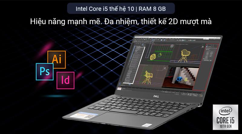 Laptop Dell XPS 13 sử dụng con chip thế hệ mới nhất của Intel - Intel Core i5 Comet Lake thế hệ 10