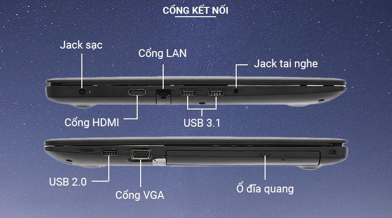 Laptop Dell Vostro 3590 Đầy đủ các cổng kết nối