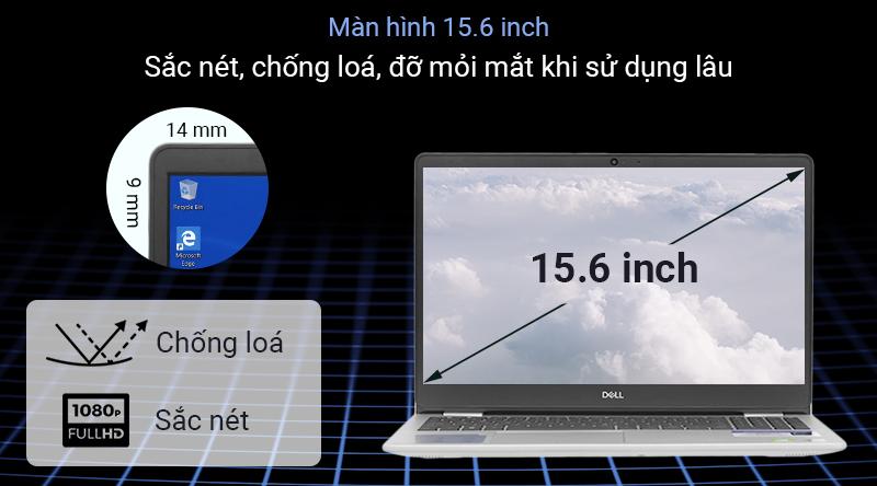 Laptop Dell Inspiron 5593 với công nghệ Anti-Glare thể hiện khả năng chống chói tốt