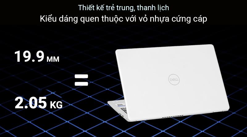 Sự cứng cáp đơn giản của thiết kế Laptop Dell Inspiron 5593