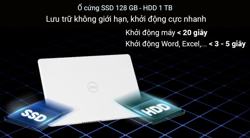 Laptop Dell Inspiron 5593  giúp người sử dụng có thể thoải mái lưu trữ