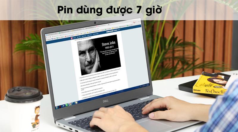 Laptop Dell Inspiron 5593 có pin dùng được 7 giờ
