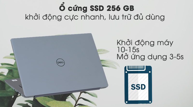 Laptop Dell Vostro 5490 trang bị ổ cứng SSD