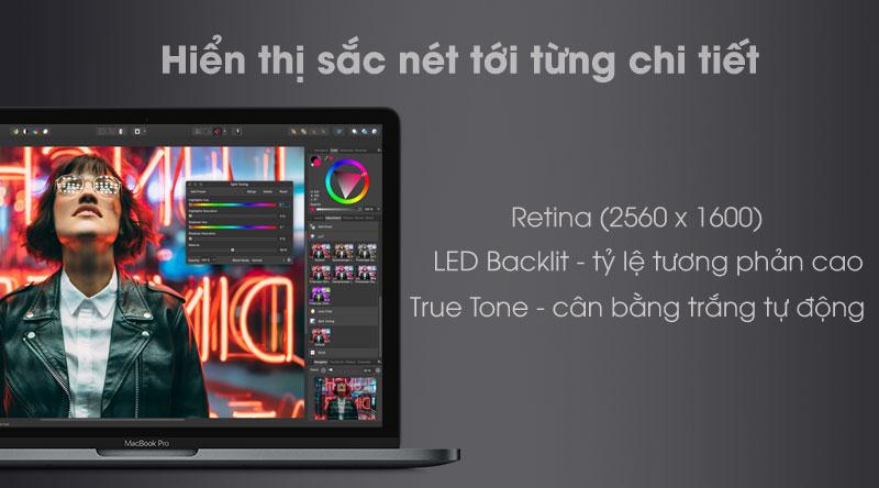 Laptop Apple Macbook Pro Touch 2019 với màn hình sắc nét