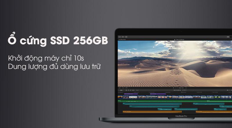 Laptop Apple Macbook Pro Touch 2019 với ổ cứng SSD tốc độ