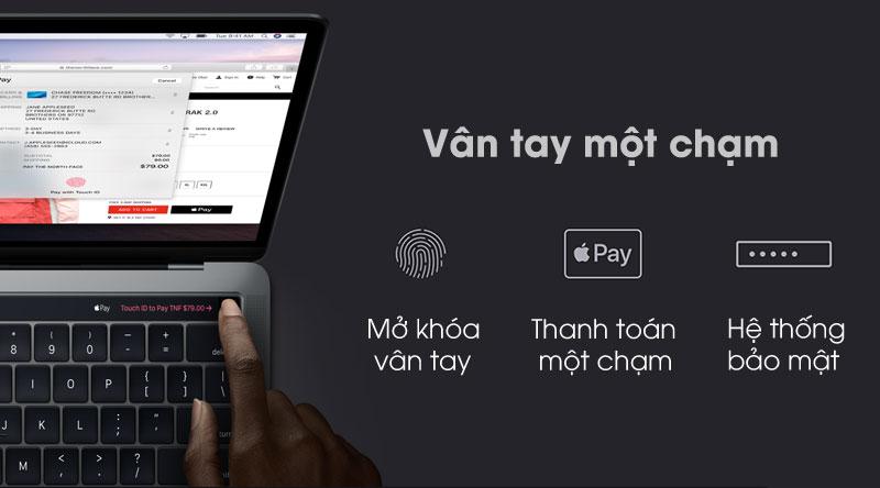 Laptop Apple Macbook Pro Touch 2019 với bảo mật nhanh chóng
