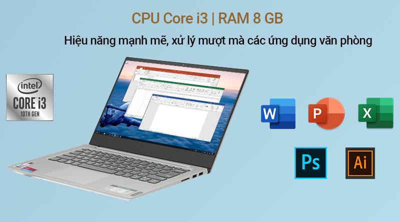 Lenovo IdeaPad S340 14IIL có hiệu năng đáp ứng nhu cầu văn phòng và chỉnh sửa hình ảnh cơ bản