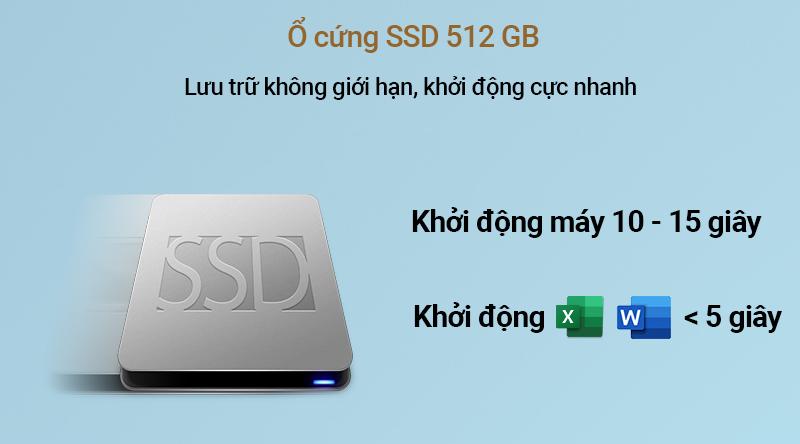 Lenovo IdeaPad S340 14IIL sở hữu ổ cứng SSD 512 GB