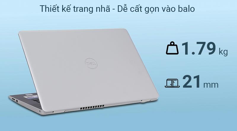 Laptop Dell Inspiron 3493  được làm từ vỏ nhựa chắc chắn