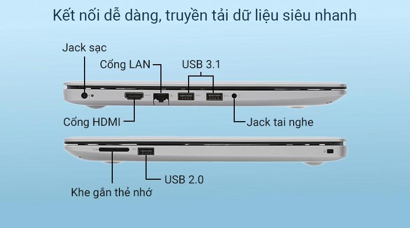 Laptop Dell Inspiron 3493  có các cổng kết nối thông dụng