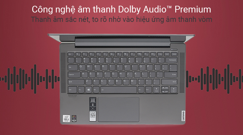Laptop Lenovo Yoga S740 14IIL với công nghệ Dolby Audio™ Premium