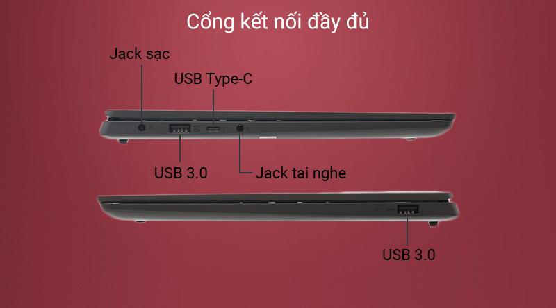 Laptop Lenovo Yoga S740 14IIL được trang bị cổng USB 3.0.
