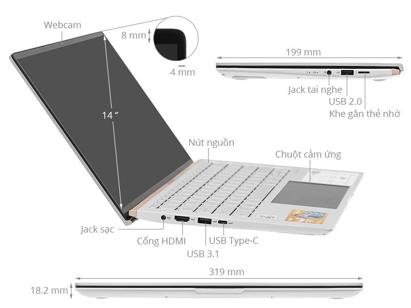 ASUS ZenBook UX434FAC: i5 10210u/8Gb/SSD 512G/14in FullHD, còn BH 16th - 5