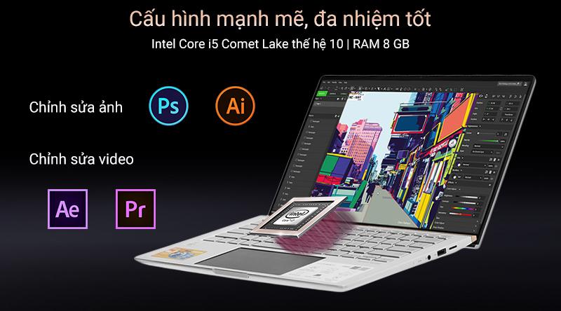 ASUS ZenBook UX434FAC: i5 10210u/8Gb/SSD 512G/14in FullHD, còn BH 16th - 2
