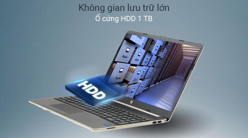 Laptop HP 15s không gian lưu trữ lớn