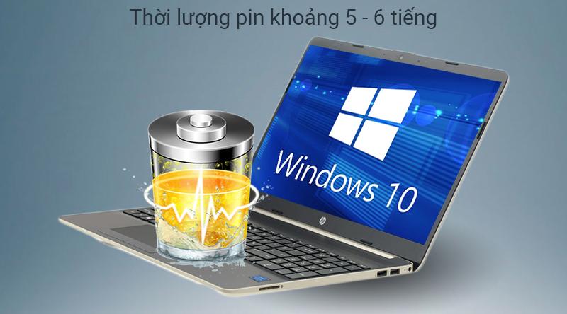 Laptop HP 15s thời lượng pin đủ dùng