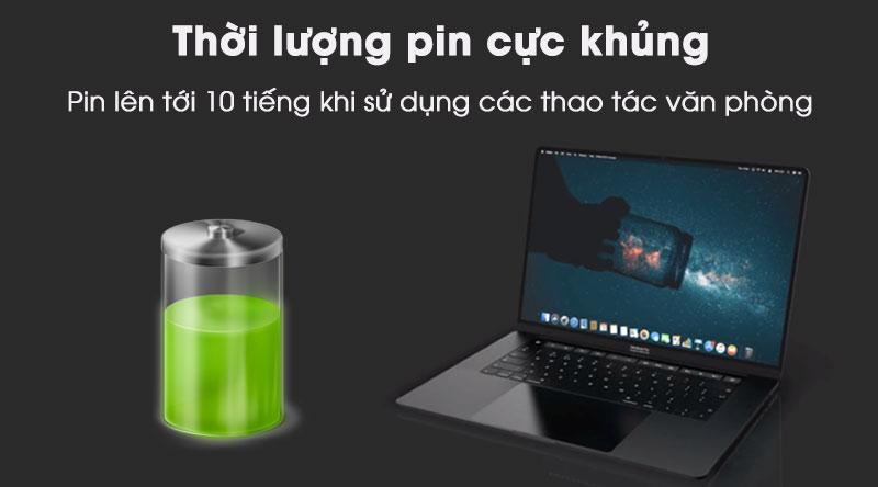 Laptop Macbook Pro Touch 16 inch 2019 i7 thời lượng pin khủng