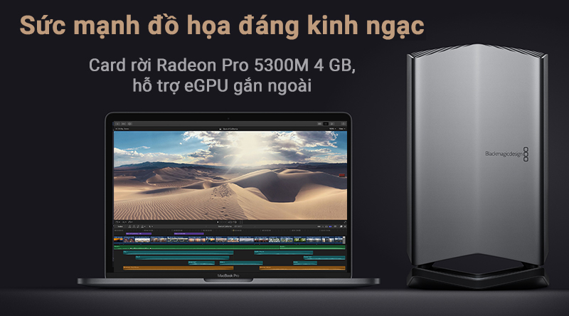 Laptop Macbook Pro Touch 16 inch 2019 i7 sức manh đồ họa đáng kinh ngạc