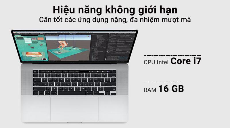 Laptop Macbook Pro Touch 2019 i7 với cấu hình mạnh mẽ