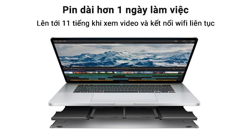Laptop Macbook Pro Touch 2019 thời lượng pin khủng