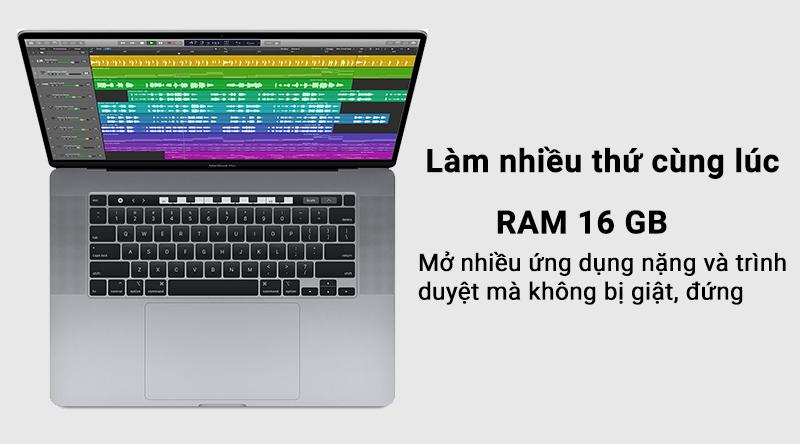 Laptop Macbook Pro Touch 2019 i7 với ổ cứng SSD cho tốc độ truy xuất cực nhanh