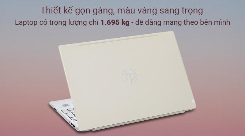 Laptop HP Pavilion 15 cs3014TU i5 (8QP20PA) có thiết kế mỏng nhẹ