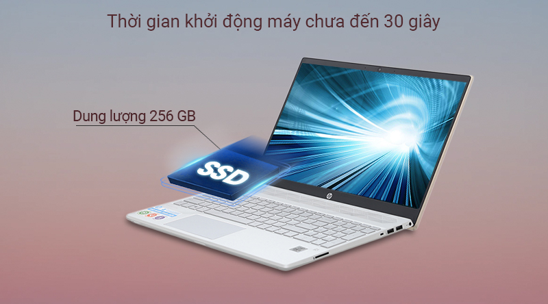 Laptop HP Pavilion 15 cs3014TU  sử dụng ổ cứng SSD 256 GB