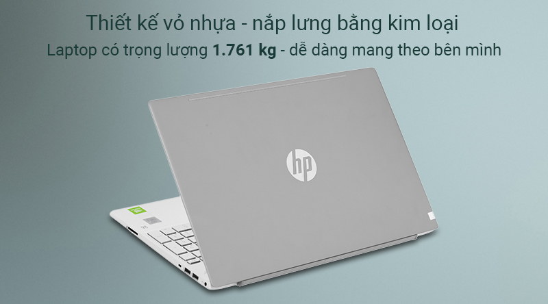 Laptop HP Pavilion 15 được hoàn thiện bởi lớp vỏ nhựa - nắp lưng bằng kim loại