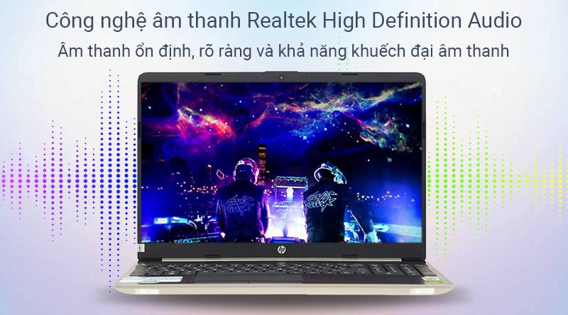 Laptop HP giúp bạn nghe nhạc to, rõ