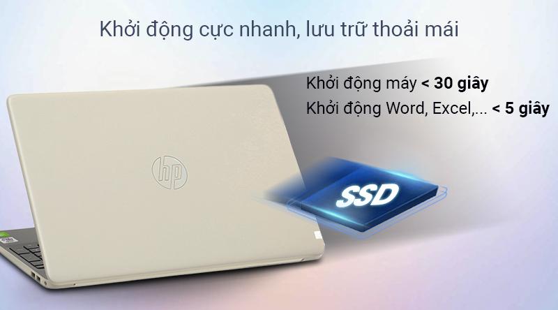 Ổ cứng SSD 512 GB tăng tốc độ xử lí dữ liệu