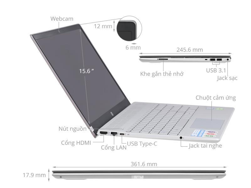 HP Pavilion 15-cs3119TX: i5 1035G1/SSD 256G/15in FHD/MX250, còn BH 5th - 5