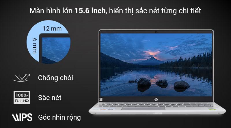 Màn hình 15.6 inch Full HD cung cấp hình ảnh rõ nét